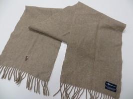 POLO RALPH LAUREN 100% Lambs Wool Scarf Italy - $19.98
