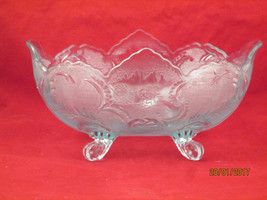 Blue Indiana Glass Footed Fruit Bowl - $25.00