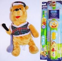 Winnie The Pooh Oral B Toothbrush Electric and Manual With Golfer Pooh Bear New. - $44.99