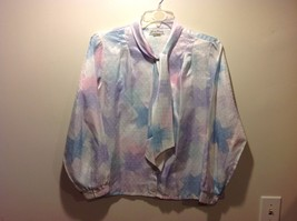 Lucky Winner Light Pastel Iridescent Button Up Blouse Sz 18