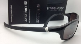 New TAG HEUER Sunglasses 27 Degrees TH 6008 002 59-17 Matte Brown w/ Grey Lenses