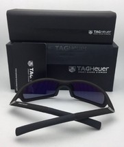 New TAG HEUER Sunglasses 27 Degrees TH 6008 004 59-17 Blue-Grey w/ Grey Lenses