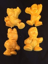 Disney Jello Molds Huey Dewey Louie Daisy Lot of 4 Yellow Plastic Nice - ₨370.60 INR