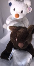 2 Chocolate Teddy Bear Hersheys Kiss Advertising Stuffed Plush Soft Toy ... - $18.69