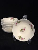 "8 VINTAGE NASCO MOSS ROSE berry bowls 5.75"" - $18.70"