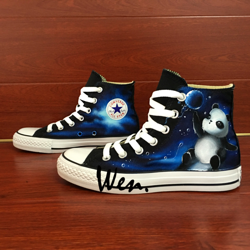 Galaxy Panda Original Design Converse All Star Sneakers Wen Hand Painted Shoes