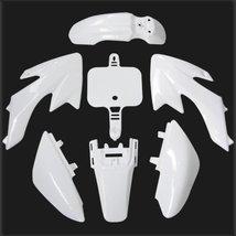 Lumix GC White Plastic Body Fairing Kit Fender Panels For 50cc Honda CRF50 XR... - $27.95