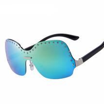 Fashion Women Rimless Sunglasses; Diamond Frame Integrated Eyewear UV400; - $19.88