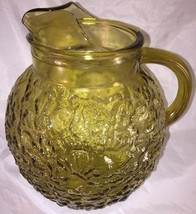 Vtg. Anchor Hocking Amber Gold Honey Crinkled G... - $14.03