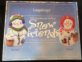 1999 Longaberger Pottery Snow Friends Cookie Mo... - $7.25