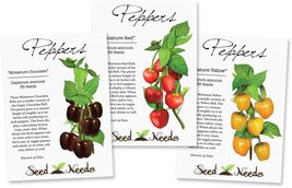 Miniature Bell Pepper Collection (3 Individual Seed Packets) - $6.18