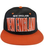 New England Adjustable OSFA Flat Bill Snapback Baseball Cap Hat Black/Red - $9.95