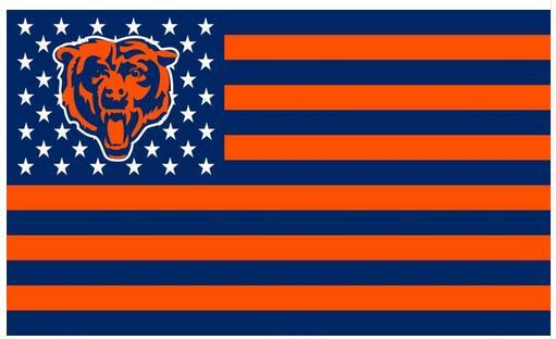 3x5ft chicago bears usa football flag nfl stars and stripes flag 90x150cm polyester banner 100d