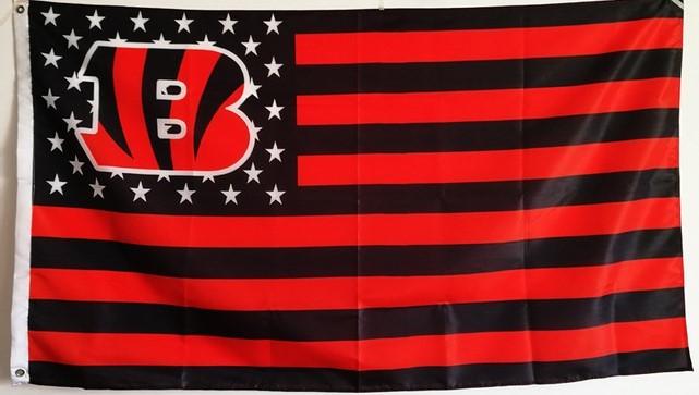 NFL Cincinnati Bengals Stars & Stripes 3'x5' Indoor/Outdoor Team Nation Flag B/O