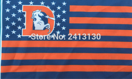 NFL Denver Broncos Retro Stars & Stripes 3'x5' Indoor/Outdoor Team Natio... - $9.99