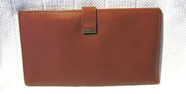 Tan Mello-Touch Cowhide Leather Passport Wallet
