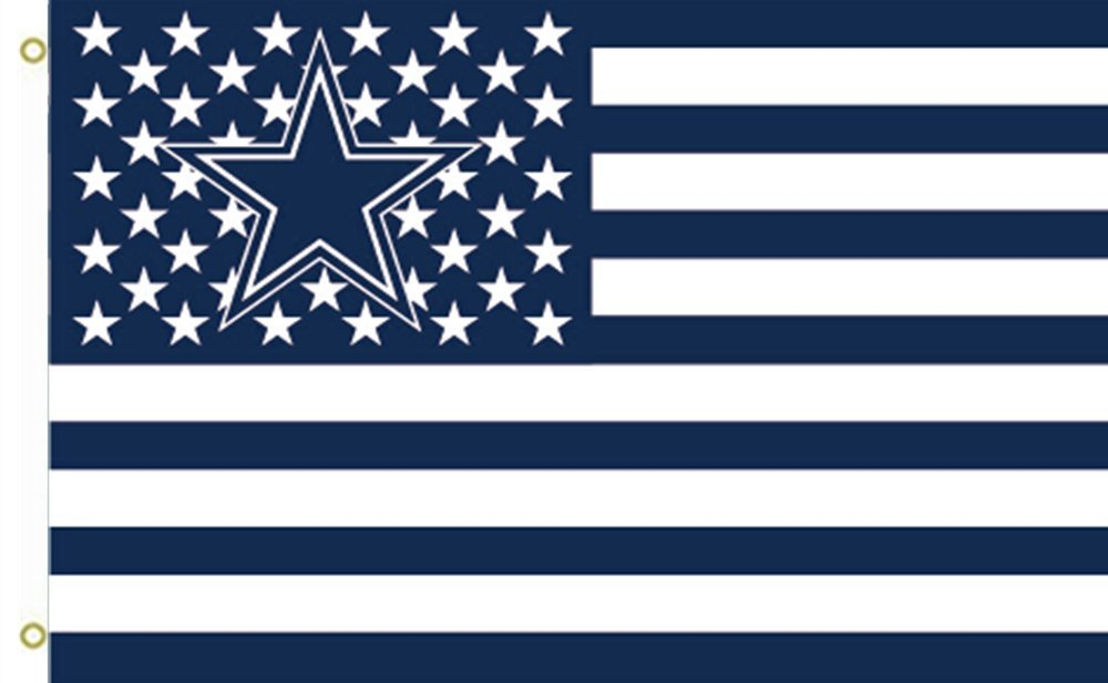 NFL Dallas Cowboys Stars & Stripes 3'x5' Indoor/Outdoor Team Nation Flag Nv/Wht