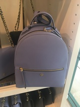Tory Burch Emerson blue Leather Backpack - $289.00