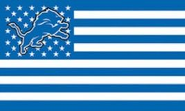 NFL Detroit Lions Stars & Stripes 3'x5' Indoor/Outdoor Team Nation Flag ... - $9.99