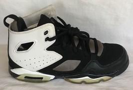 NIKE Jordan Flight Club 91 Black & White High Top Shoes Used W Box 4.5 Y  - $49.45