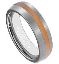 6mm Mens Tungsten Ring 18K Glod Plated Center Brushed Surface Sizes 4-16... - $24.95