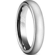 6mm Tungsten Ring Wedding Band Polished Dome Comfort Fit Sizes 4-16 & Half - $23.95