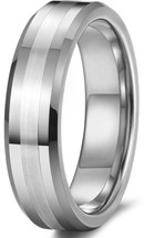 6mm Tungsten Ring Wedding Band Promise Matte Comfort Fit Sizes 4-16 & Half - $23.95