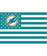 NFL Miami Dolphins Stars & Stripes 3'x5' Indoor/Outdoor Team Nation Flag... - $9.99