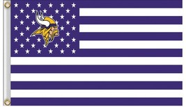 NFL Minnesota Vikings Stars & Stripes 3'x5' Indoor/Outdoor Team Nation F... - $9.99