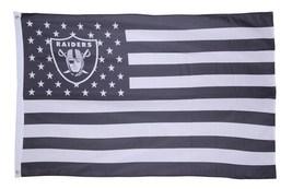 NFL Oakland Raiders Stars & Stripes 3'x5' Indoor/Outdoor Team Nation Fla... - $9.99
