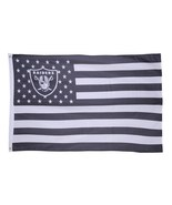 NFL Oakland Raiders Stars & Stripes 3'x5' Indoor/Outdoor Team Nation Fla... - $9.99