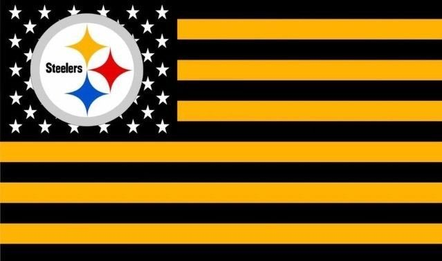 NFL Pittsburgh Steelers Stars & Stripes 3'x5' Indoor/Outdoor Team Nation Flag BG