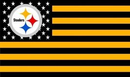 NFL Pittsburgh Steelers Stars & Stripes 3'x5' Indoor/Outdoor Team Nation... - $9.99