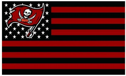 Usa football flag tampa bay buccaneers nfl stars stripes flag 3ft x 5ft polyester flying size