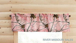 "RealTree AP Window Valance, Pink, Camo Outdoors Design Decor. 60"" x 14"" ... - $17.98"