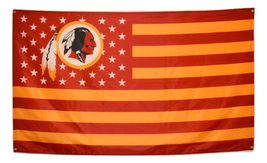 NFL Washington Redskins Stars & Stripes 3'x5' Indoor/Outdoor Team Nation... - $9.99