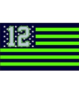 NFL Seattle Seahawks Stars & Stripes 3'x5' Indoor/Outdoor Team Nation Fl... - $9.99