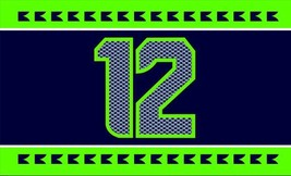 NFL Seattle Seahawks Striped 3'x5' Indoor/Outdoor Team Nation Flag Large 12 - $9.99