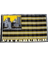 NFL Pittsburgh City Skyline 3'x5' Indoor/Outdoor Team Nation Flag Black/... - $9.99