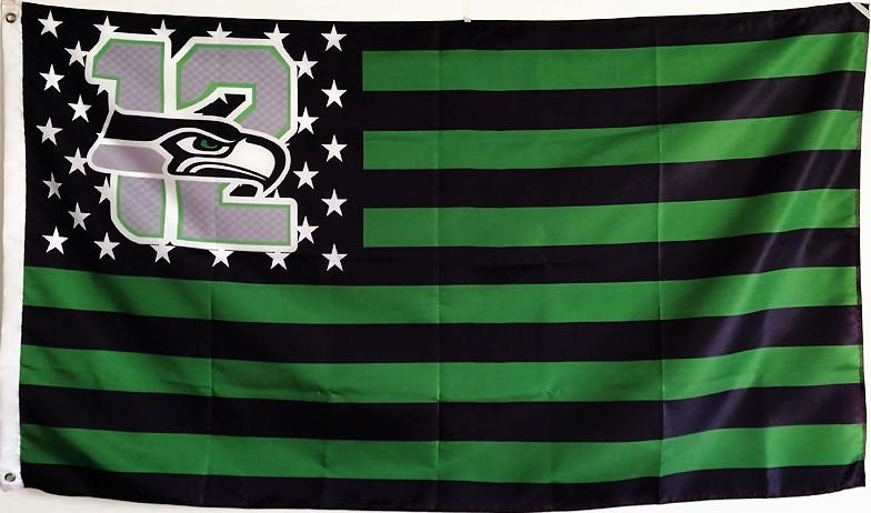 Seattle font b seahawks b font 12 usa star stripe nfl premium team football font b