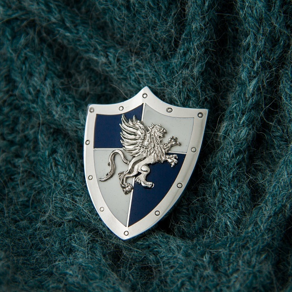 Handmade Heroes of Might and Magic Erathia  brooch, shield griffin pendant