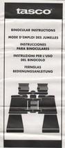 Tasco Binocular Instructions in 5 Languages - $2.50
