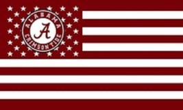 NCAA Alabama Crimson Tide Stars & Stripes 3'x5' Indoor/Outdoor Team Nati... - $9.99