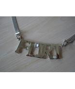 Silvertone Flirt Pendant Necklace, Bead Chains, Large  Lobst - $14.99