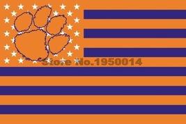 NCAA Clemson Tigers Stars & Stripes 3'x5' Indoor/Outdoor Team Nation Fla... - $9.99