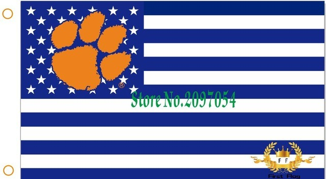 NCAA Clemson Tigers Stars & Stripes 3'x5' Indoor/Outdoor Team Nation Flag Prp/Wh