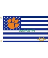 NCAA Clemson Tigers Stars & Stripes 3'x5' Indoor/Outdoor Team Nation Fla... - $9.99