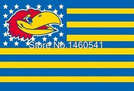 NCAA Kansas Jayhawks Stars & Stripes 3'x5' Indoor/Outdoor Team Nation Fl... - $9.99