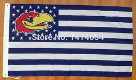 NCAA Kansas Jayhawks Stars & Stripes 3'x5' Indoor/Outdoor Team Nation Fl... - $9.99