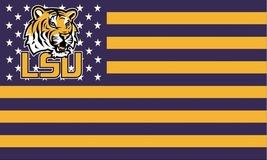 NCAA LSU Tigers Stars & Stripes 3'x5' Indoor/Outdoor Team Nation Flag Pr... - $9.99
